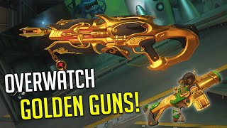 OVERWATCH GOLDEN GUNS! How To Get Them + New Competitive Mode!