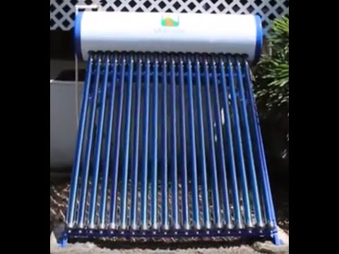 Evacuated Tube Solar Thermal Water Heater