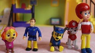 Psi Patrol po polsku i Strażak Sam ratują Skye - bajki dla dzieci zabawki