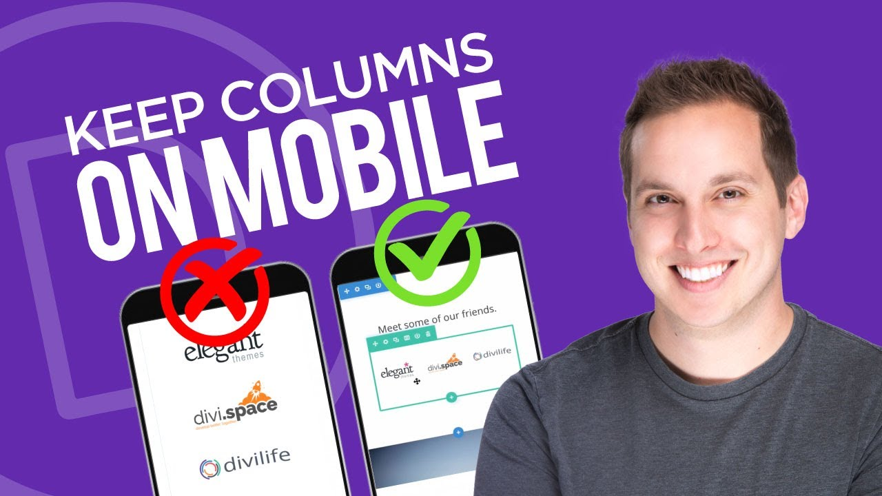 How to Keep Columns on Mobile in Divi - JoshHall co