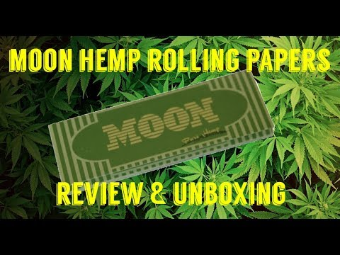 FULL MELT FUSION'S – MOON PURE HEMP 70mm SINGLE WIDE ROLLING PAPERS REVIEW & UNBOXING #RawLife