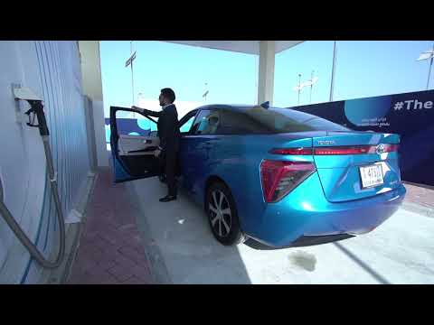 Toyota Mirai refuels at first UAE hydrogen station