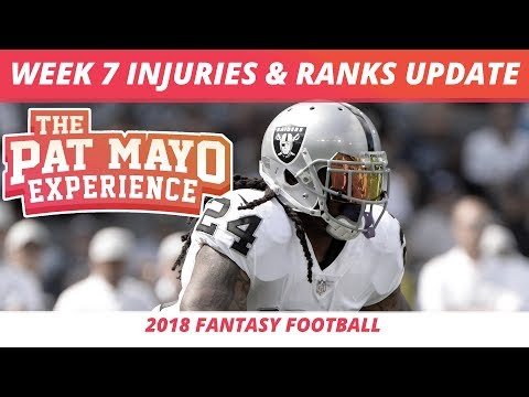 2018 Fantasy Football Rankings Update — Week 7 NFL Injury Report & Pickups
