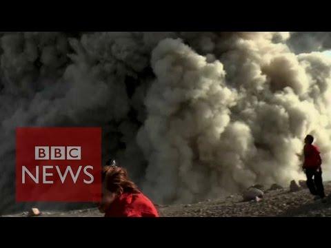 Nicaragua Volcano: Moment photographers capture eruption - BBC News