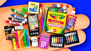 22 DIY MINIATURE SCHOOL SUPPLIES BACK TO SCHOOL 2020