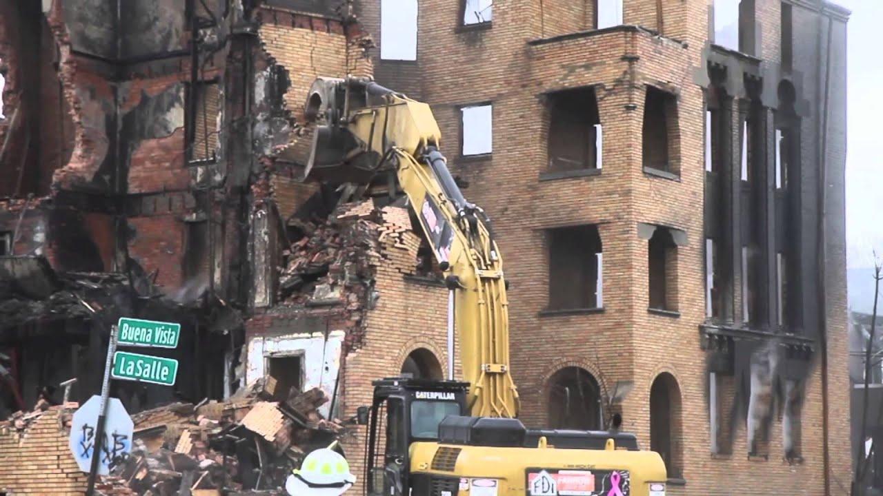 Art Deco Apartment Demolished In Detroit Youtube