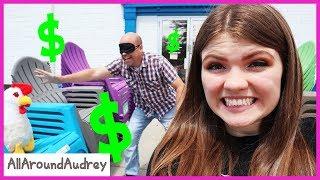 Buying Everything My Dad Touches While Blindfolded Challenge / AllAroundAudrey