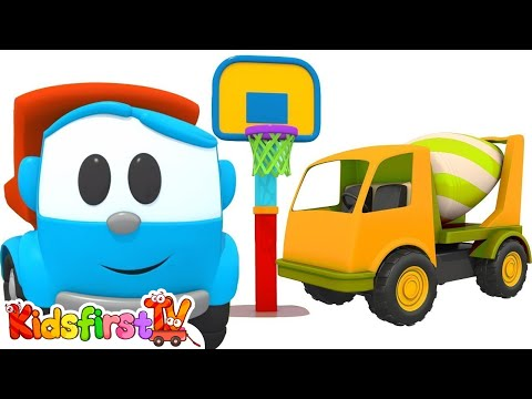 Leo the Truck & the cement mixer. Cartoons for children.
