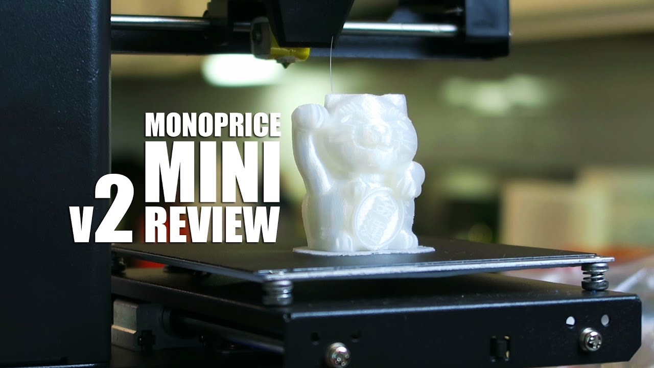 video Monoprice MP Select Mini V2 3D Printer