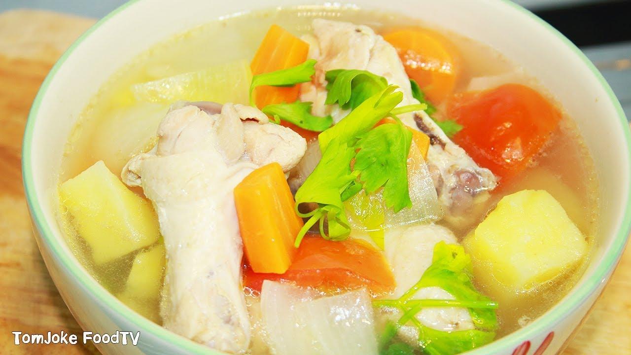 ซุปไก่มันฝรั่ง วิธีทําแสนง่ายหอมอร่อยน้ำซุปใสๆ Chicken Potato Soup Recipe