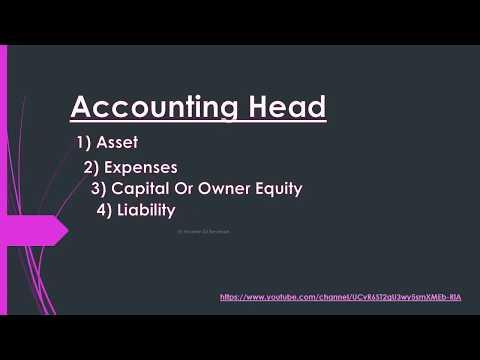 Accounting Cycle & Accounting Head Rule