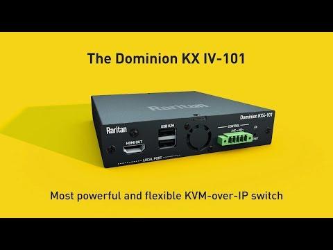 4K KVM over IP - Dominion KX IV-101 - Raritan