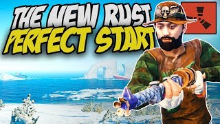 THE PERFECT START WITH THE NEW RUST UPDATE! - Rust Solo Survival Gameplay
