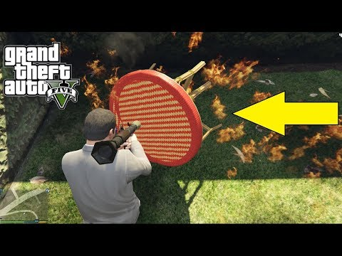 GTA V - Crazy Table Bug - Funny Moments - |