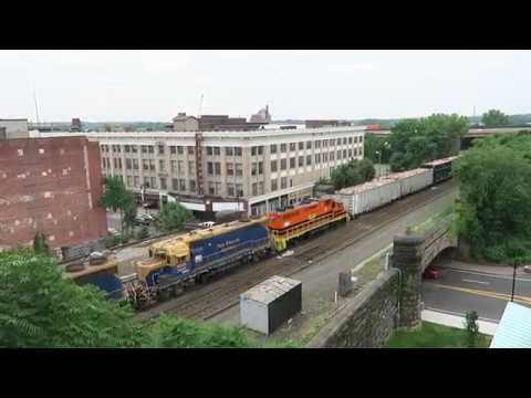 CSO and CSX in Springfield Mass. June 30th, 2017