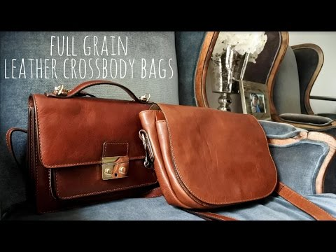 Floto Imports - Review Full Grain Leather Crossbody Bags | Roma Saddle Bag and Milano Mini Bag