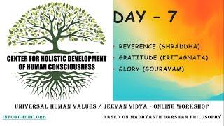 Universal Human Values / Jeevan Vidya Online Workshop by Giri - Day 7