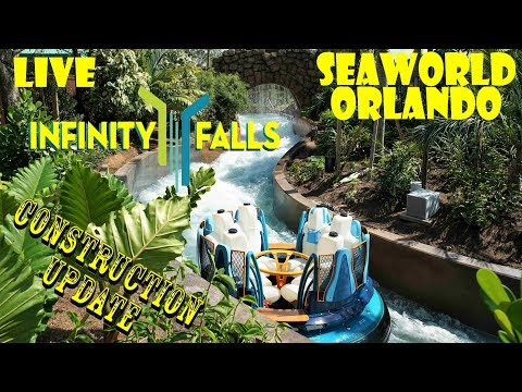 LIVE FROM SEAWORLD ORLANDO FOR INFINITY FALLS WALLS DOWN!!!