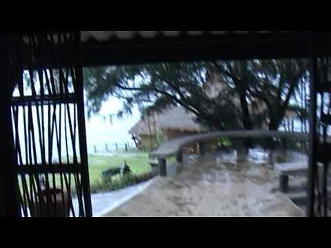 ฤดูตกปลาหมึก ปารีฮัท เกาะสีชัง ฝนตก