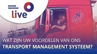 Wat zijn uw voordelen van ons Transport Management Systeem (TMS)?   Nijhof-Wassink