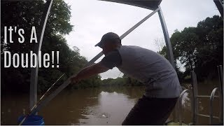 Fishing For BIG Catfish From A Private Dock During A FLOOD