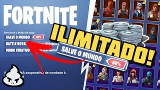 How to EARN UNLIMITED VBUCKS at Fortnite Save the world! Honestly, NO DRAW, 100% GUARANTEED
