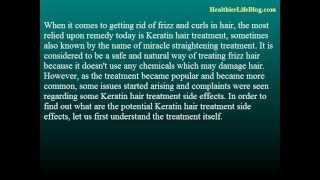 Keratin Hair Treatment Side Effects