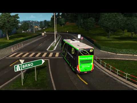 Euro Truck Simulator 2 Bus trip to Bratislava with Marcopolo Paradiso G7 1600 LD SCANIA K440