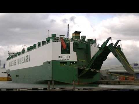 Arabian Breeze & Boheme RO/RO Cargo Carriers departing from Southampton 07/10/13