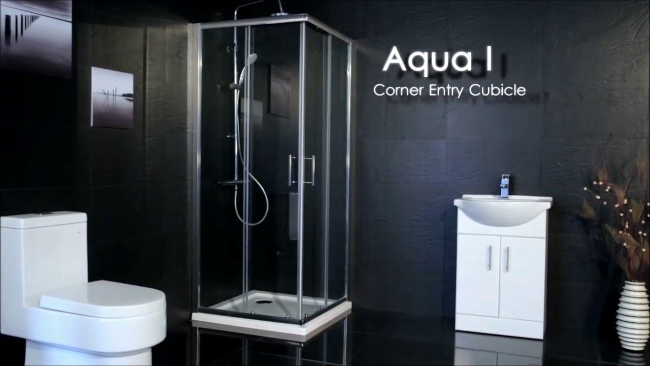 Aqua-I6 Corner Entry Shower Enclosure - YouTube