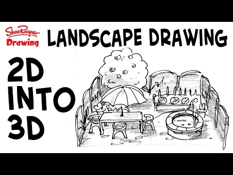 How to draw great 3d landscapes from 2d plans