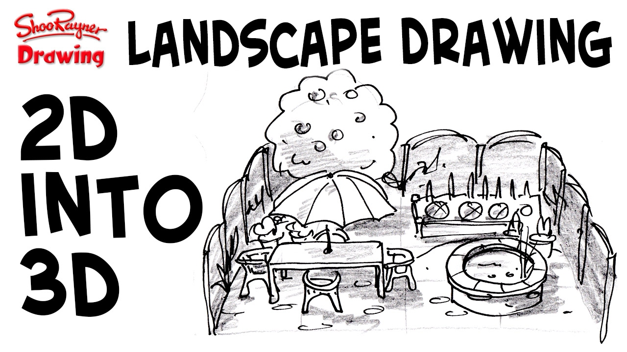 How To Draw Great 3d Landscapes From 2d Plans   YouTube