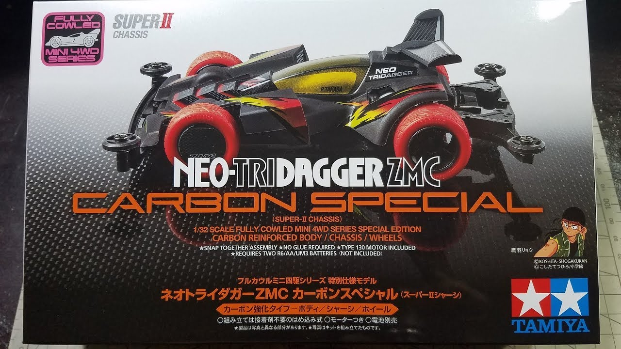 Tamiya Mini 4WD Special Neo Tri-Dager ZMC Carbon Special Super II 95508