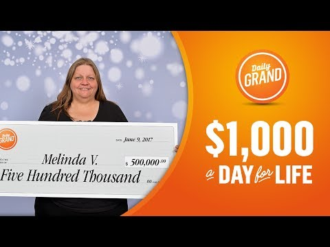 British Columbia resident Melinda  V. wins $500,000.00 on DAILY GRAND