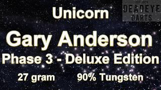 Unicorn World Champion Gary Anderson Deluxe 90% Tungsten Phase 3 27 gram Darts - D0077