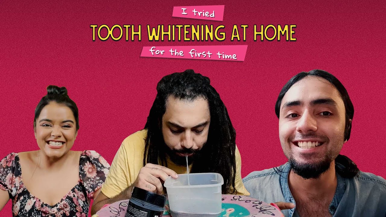 We Tried Tooth Whitening At Home For The First Time   Ok Tested