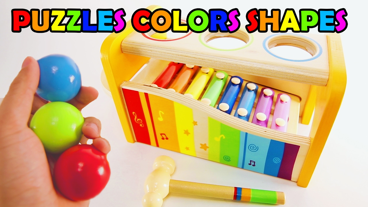 PUZZLES COLORS SHAPES! Best Learning Games For Toddlers