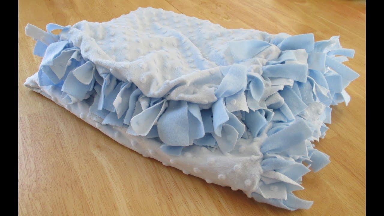DIY: Baby Blanket (No Sew) - YouTube