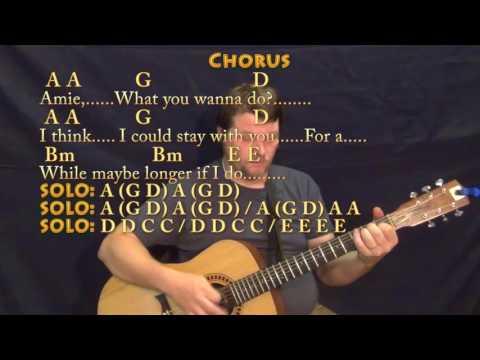 Amie (Pure Prairie League) Guitar Lesson Chord Chart with Chords/Lyrics