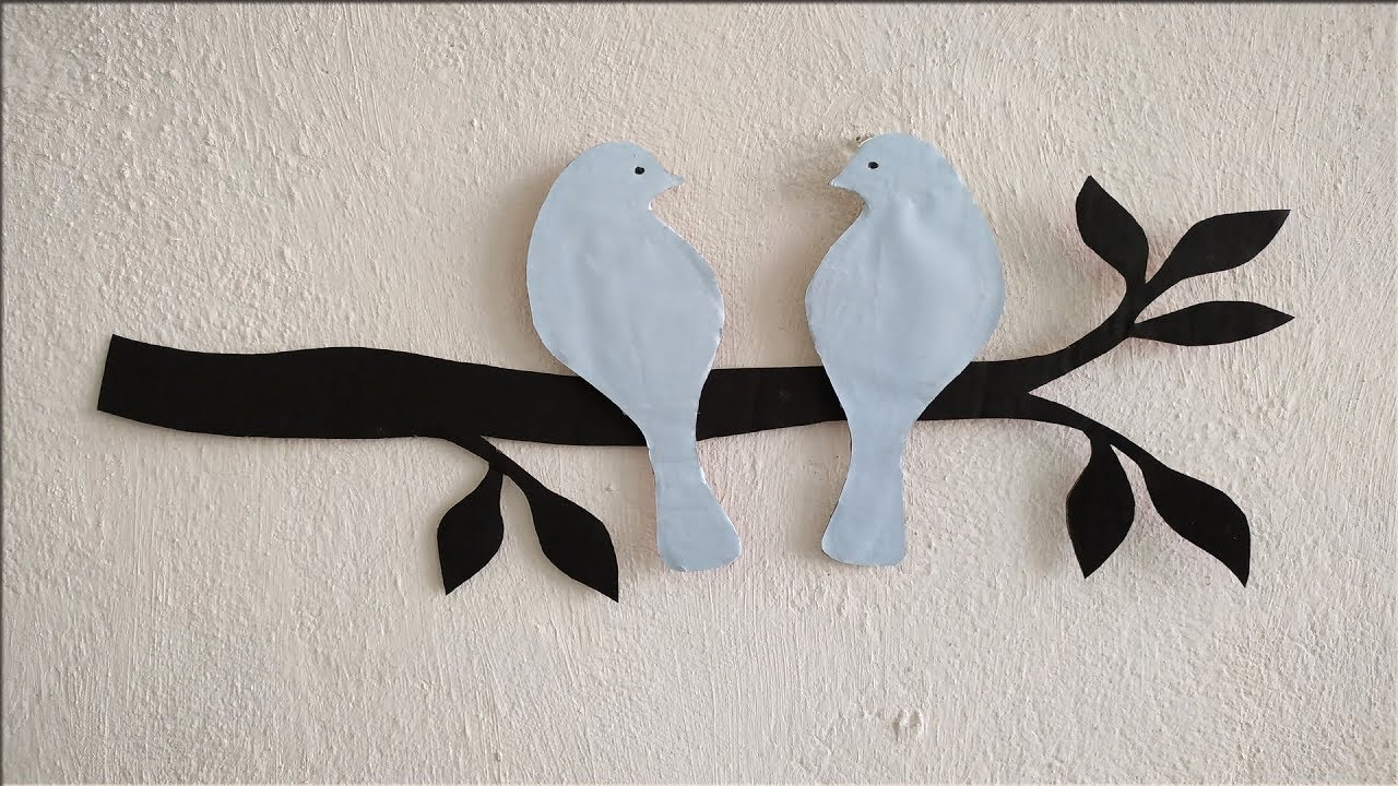 Diy Bird Wall Decor Ideas Easy Wall Decoration Ideas How To Decorate Your Wall Easily Youtube Simple Wall Decor Bird Wall Decor Easy Wall