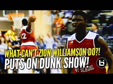 What Can't Zion Williamson Do?! Dunk Show at Oakbrook Prep! 36/21 Raw Highlights!