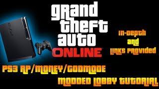 GTA ONLINE: PS3 MODDED LOBBY TUTORIAL! MOD MONEY, RANK/RP, GODMODE, ETC...1.07