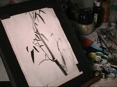 "Bamboo Chinese Brush Painting (""Sumi-e"" in Japanese)"