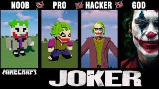 Minecraft Battle: NOOB vs PRO vs HACKER vs GOD: BUILD JOKER CHALLENGE in Minecraft. 0+