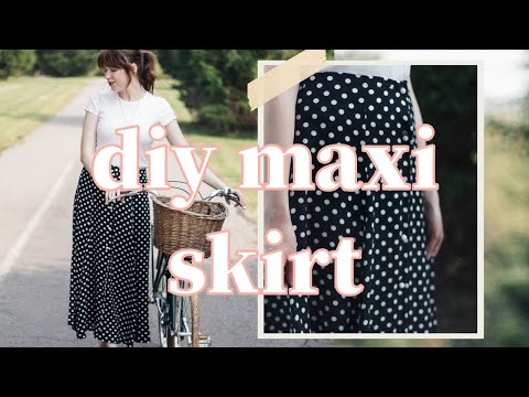 DIY Button Front Maxi Skirt: Sew With Me!