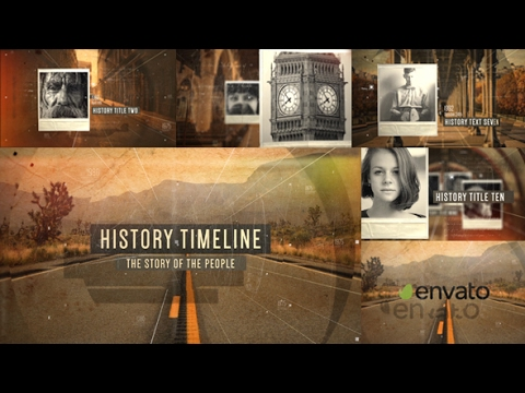 history timeline opener after effects template openers youtube