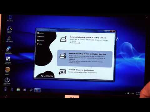 System Restore Using Recovery Disks
