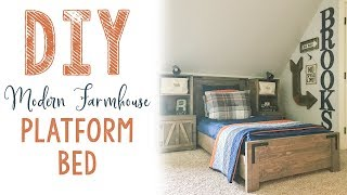 DIY Modern Farmhouse Platform Bed