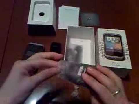 Unboxing HTC Wildfire Android 2.1 Eclair