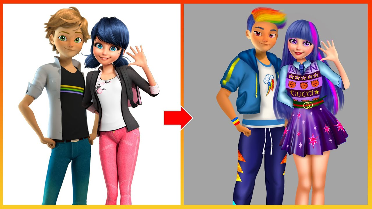 Miraculous Ladybug And Adrian Glow Up Into My Little Pony Character - Miraculous Cartoon